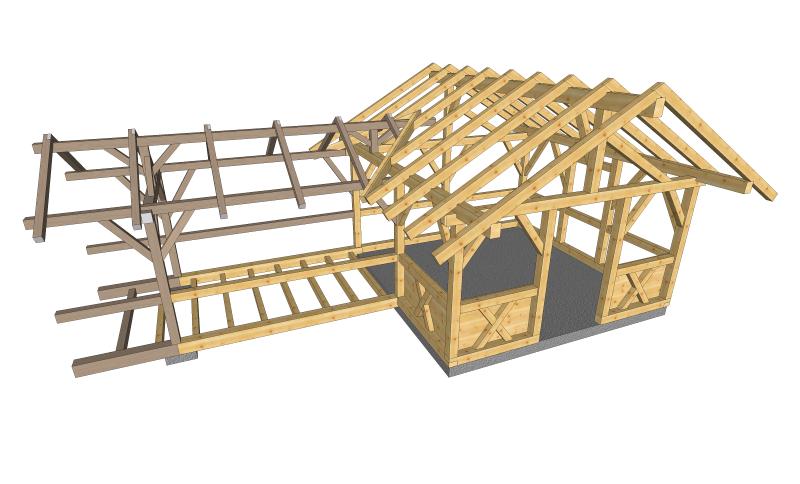 konstruktion in 3d zimmerei bertl. Black Bedroom Furniture Sets. Home Design Ideas